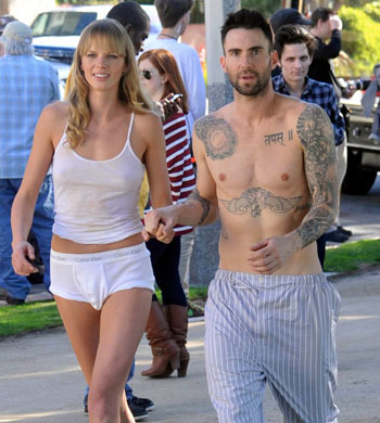 Adam Levine and Anne V