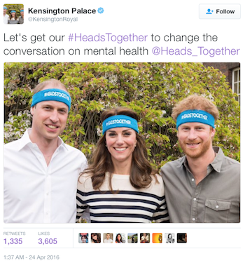 British Royals Heads Together campaign